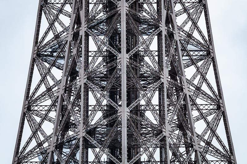 Photographie urbaine du centre de la Tour Eiffel