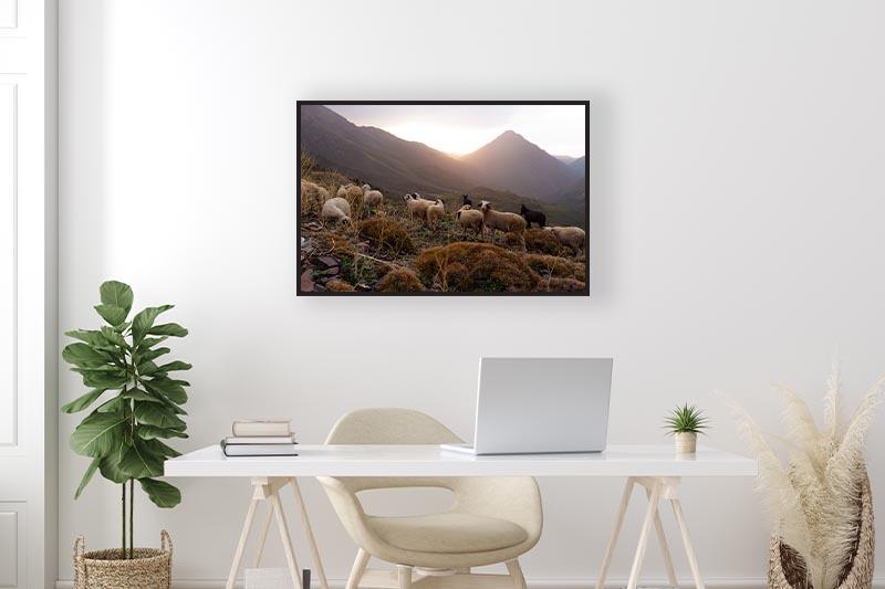 Photographie artistique paysage GUILLOT IMAGES mise en scène dans un bureau