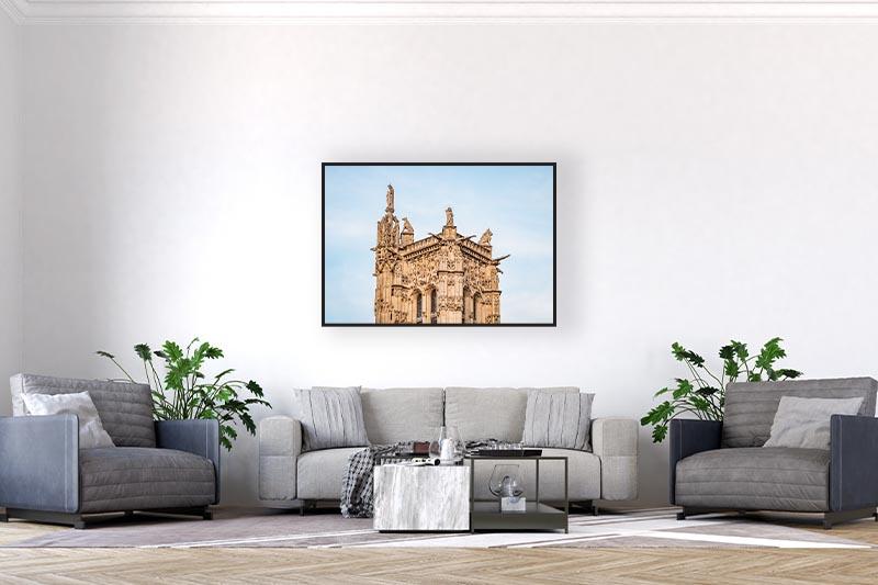 Tirage art photo mise en scène dans un salon GUILLOT IMAGES