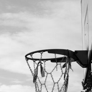Photo noir et blanc basketball