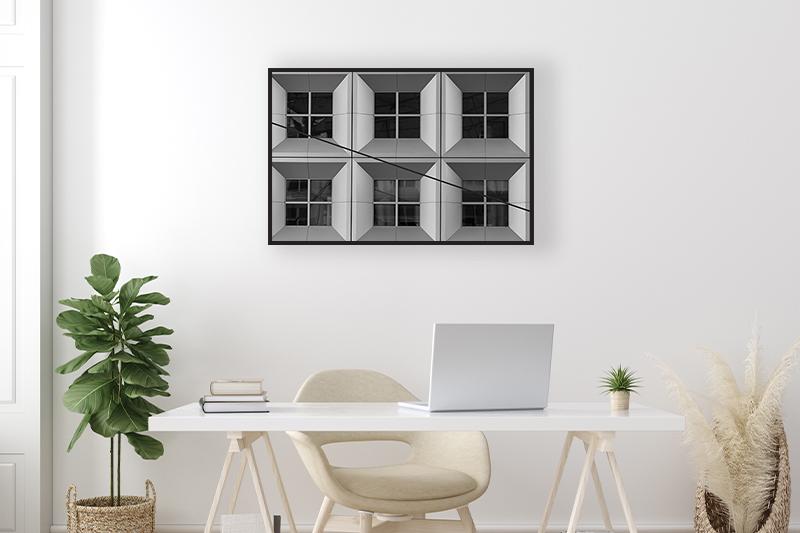 T2 Arche de la Défense Mise en scène GUILLOT IMAGES Photo Noir et Blanc